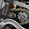 After 2 or 3 races the frame would stretch at the swingarm pivot enough to crack the cases just behind the countershaft